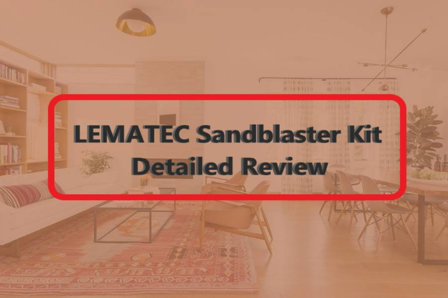 "LEMATEC Sandblaster Kit ""The Complete Blasting Solution For All"""
